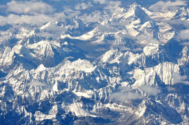 Горы Snowy стоковое фото rf