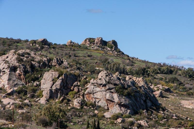 Горы Troodos в Кипр стоковая фотография rf