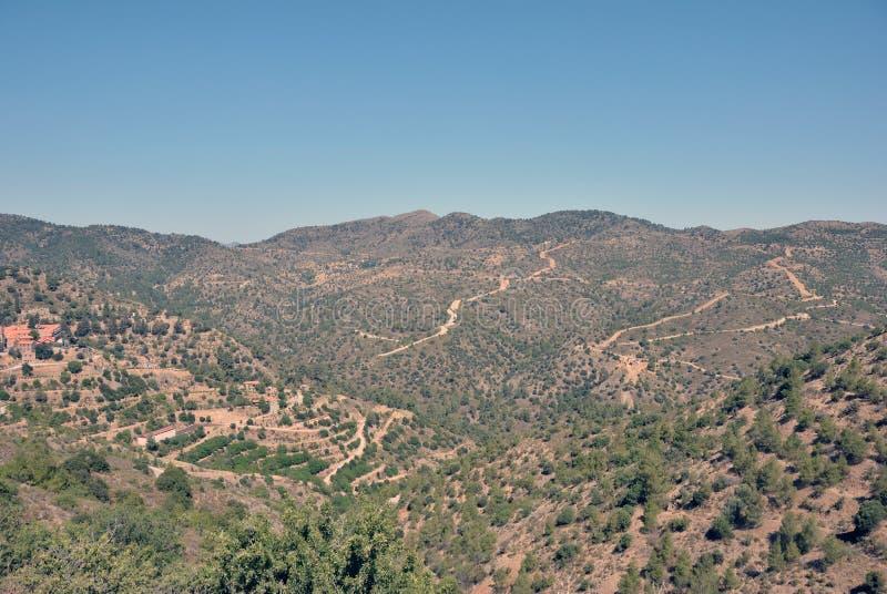 Горы Troodos стоковое изображение