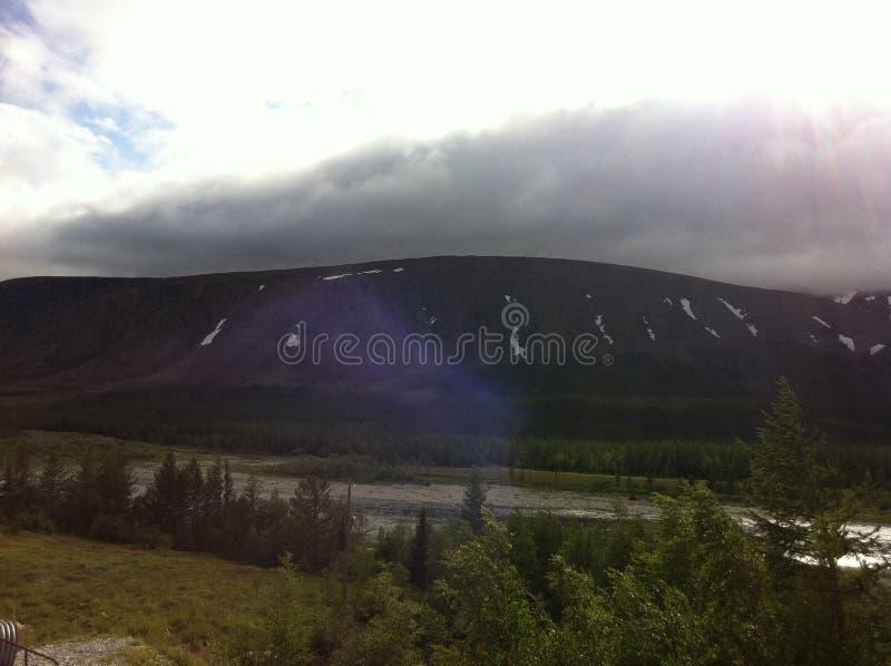 Горы Ural за Полярным кругом стоковое фото