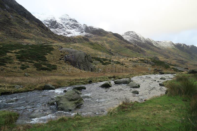 Горы Welsh около Llanberis стоковая фотография