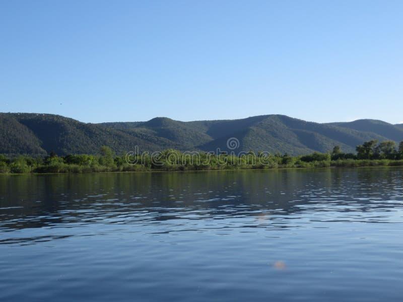 Горы Zhiguli и Река Волга в лете стоковое фото rf