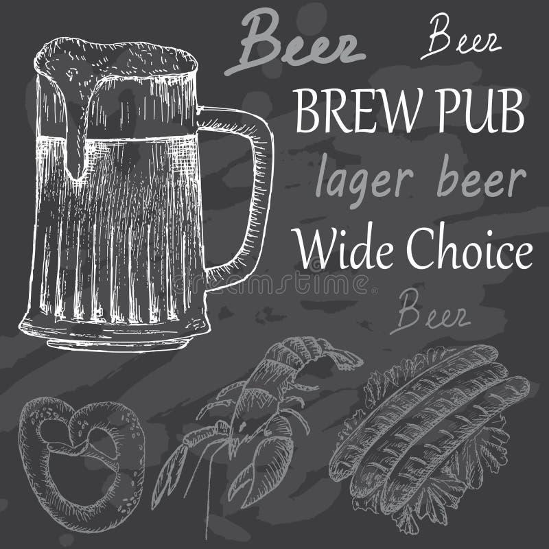 Горькое пиво иллюстрация вектора