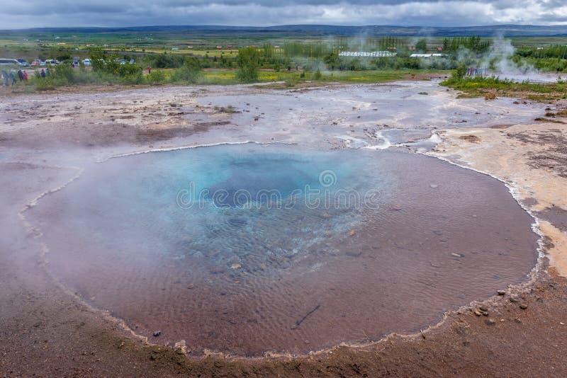 горячая весна Исландии стоковая фотография