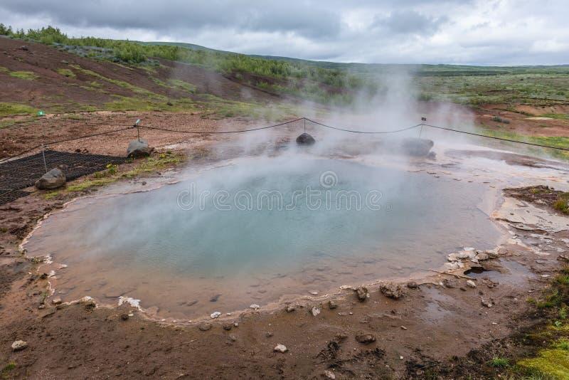 горячая весна Исландии стоковое фото rf
