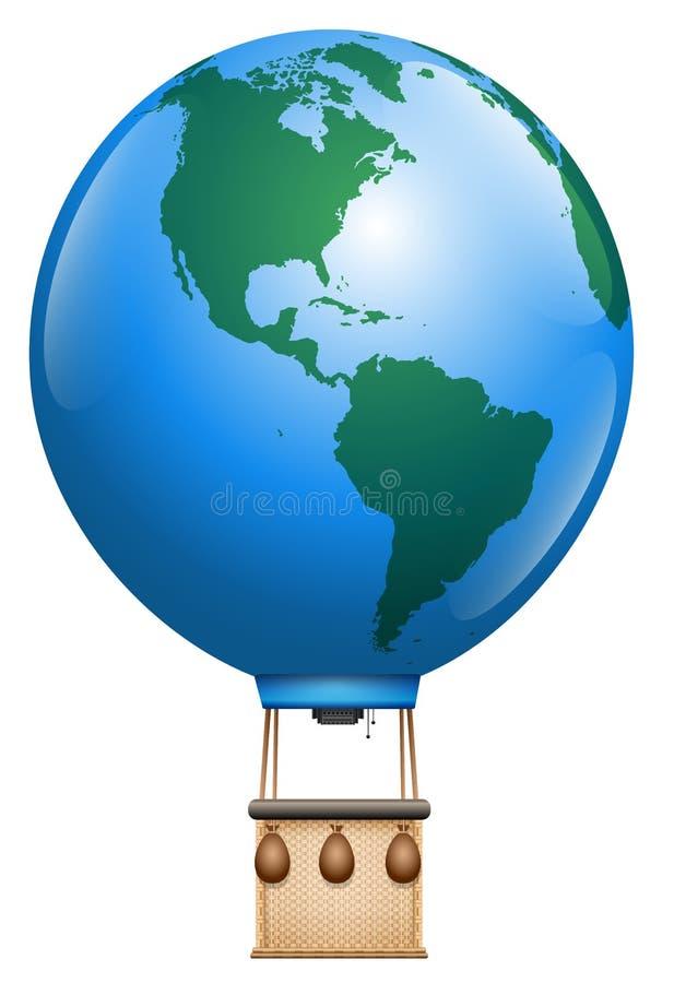 Горячая земля планеты воздушного шара иллюстрация вектора