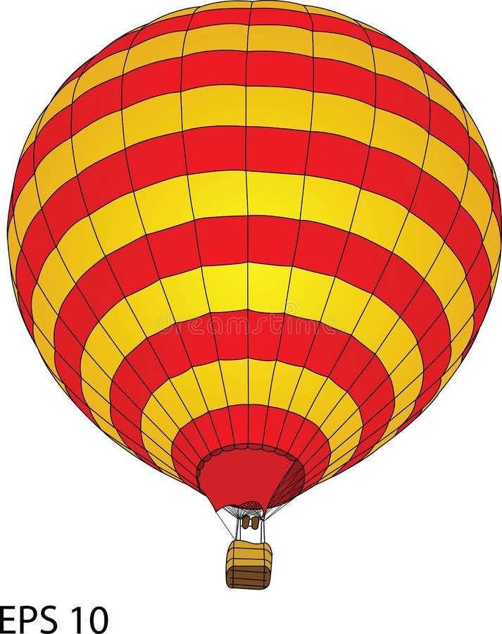 Горячая иллюстрация вектора воздушного шара бесплатная иллюстрация