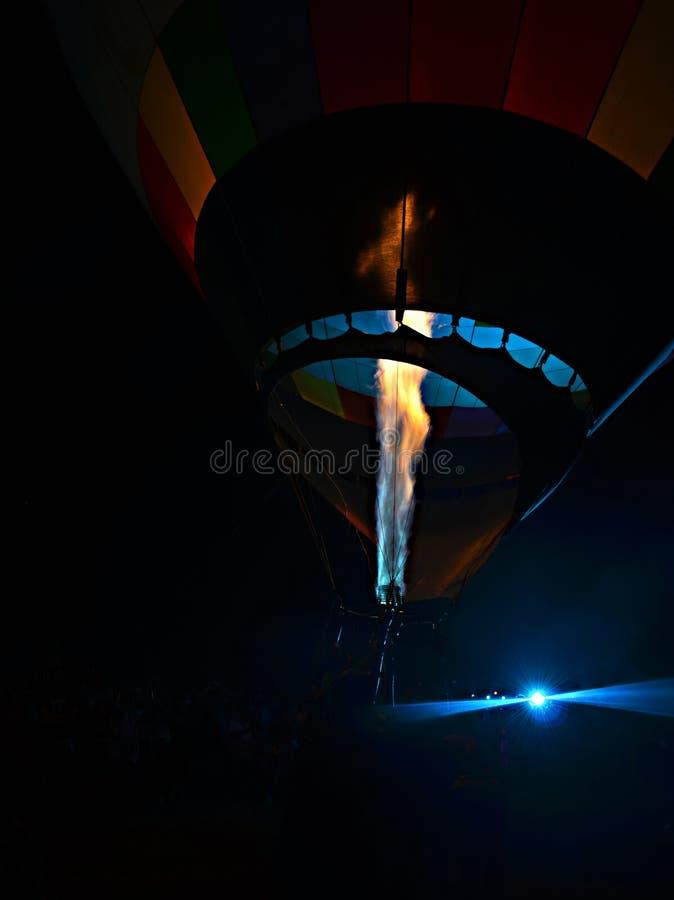 Горячая инфляция воздушного шара стоковая фотография rf