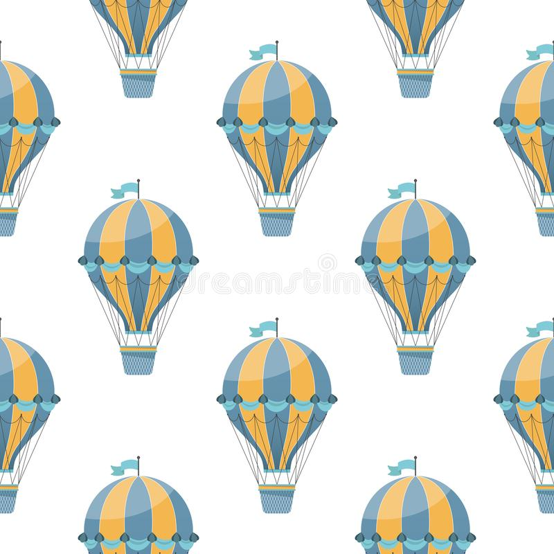 Горячая картина воздушного шара безшовная иллюстрация вектора