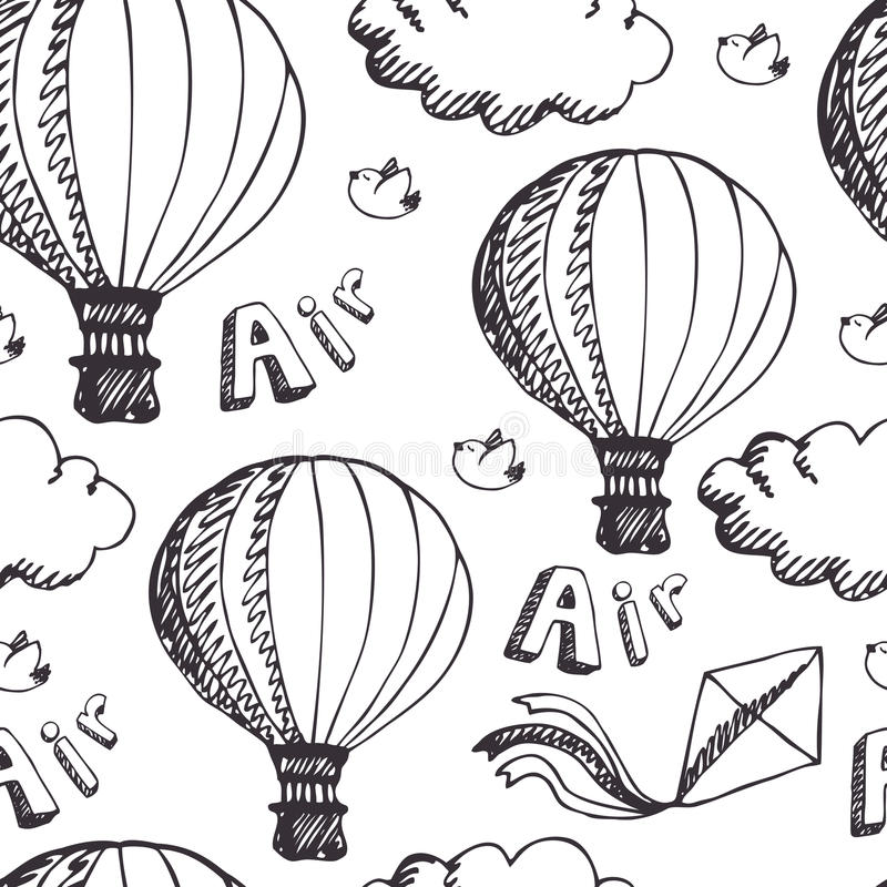 Горячая картина воздушных шаров иллюстрация вектора