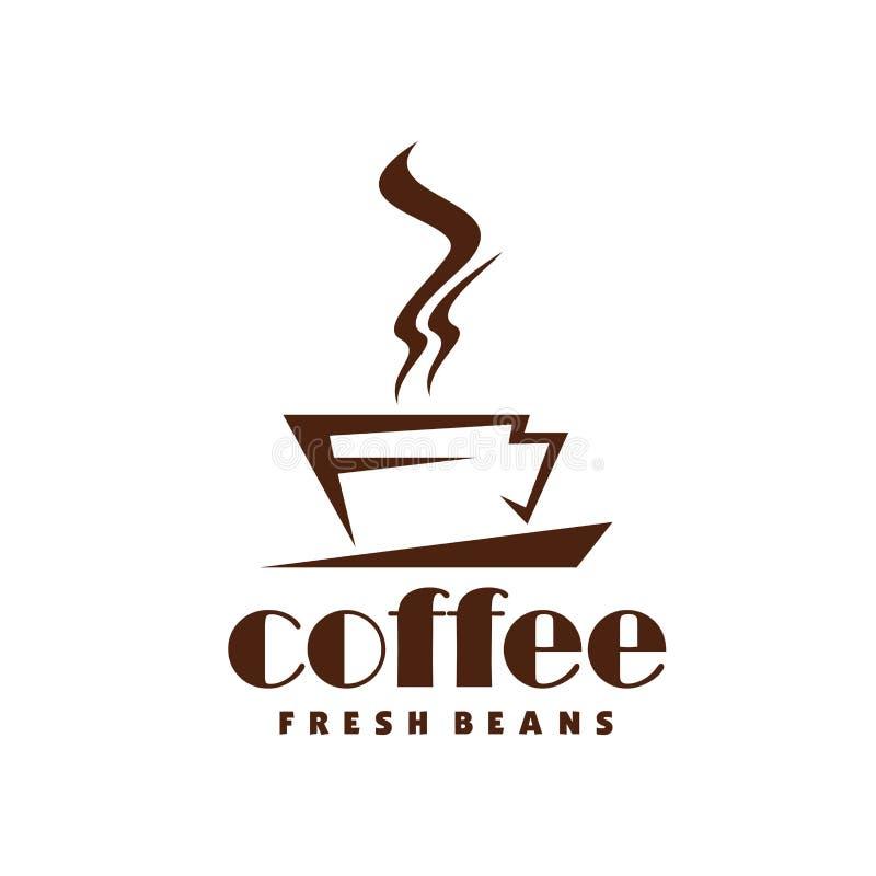 Горячая линия значок вектора чашки пара кофе для кафа иллюстрация вектора