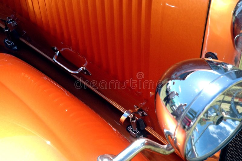 горячая померанцовая штанга стоковая фотография