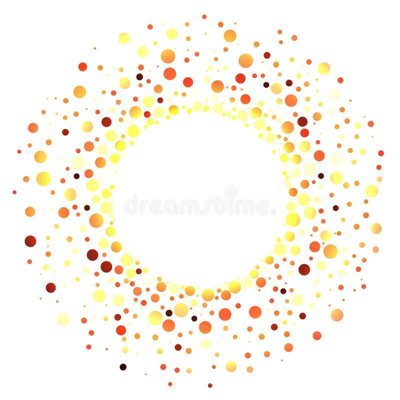 Горячая рамка кольца огня шариков бесплатная иллюстрация