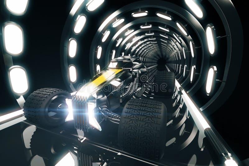 Горячая штанга в стороне тоннеля бесплатная иллюстрация