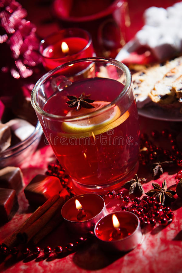Горячее питье на зима стоковые изображения