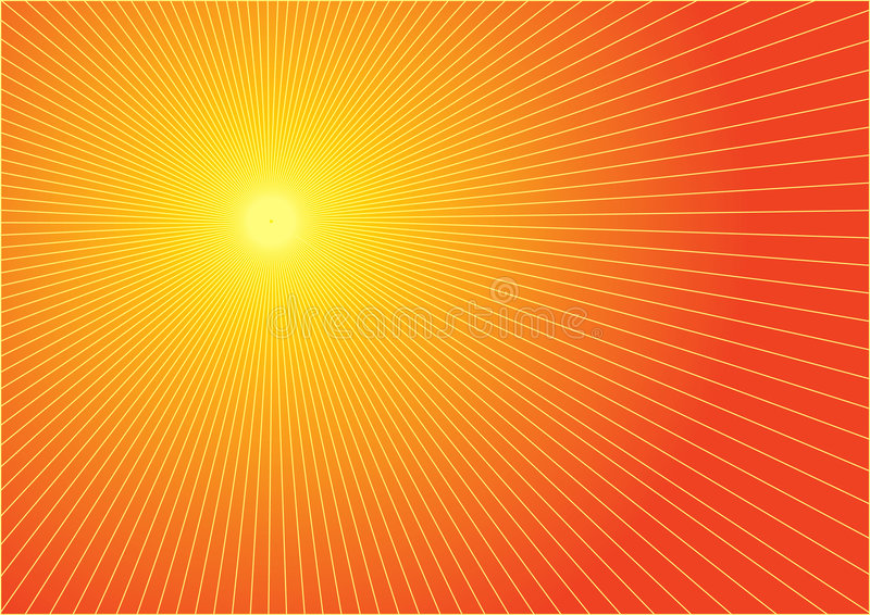 горячее солнце лета иллюстрация вектора