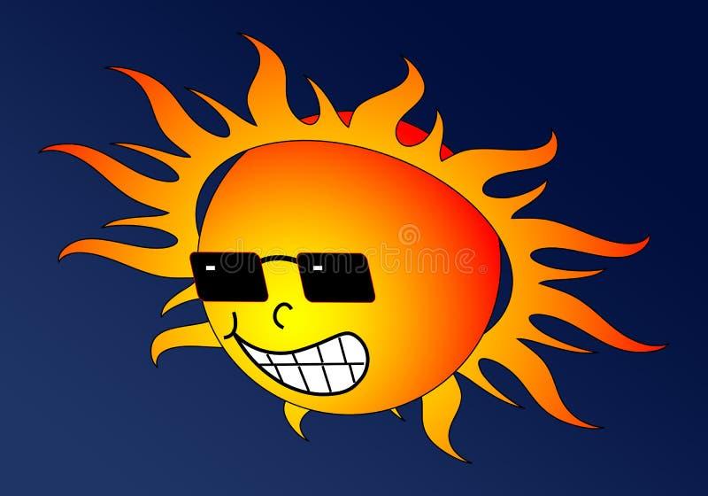 горячее солнце иллюстрация штока