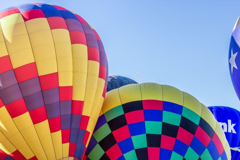 Горячие воздушные шары в Альбукерке, фиесте Неш-Мексико стоковая фотография rf