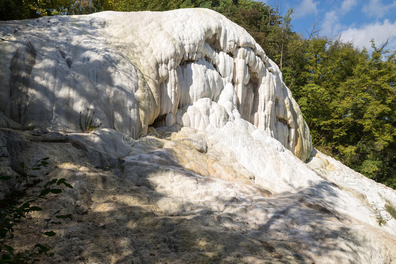 Горячие источники Fosso Bianco в Bagni Сан Филиппо стоковое изображение rf