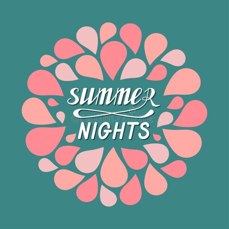 Горячие ночи лета иллюстрация штока