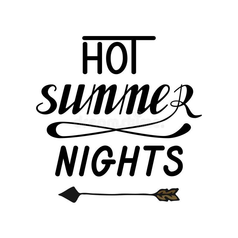 Горячие ночи лета иллюстрация вектора