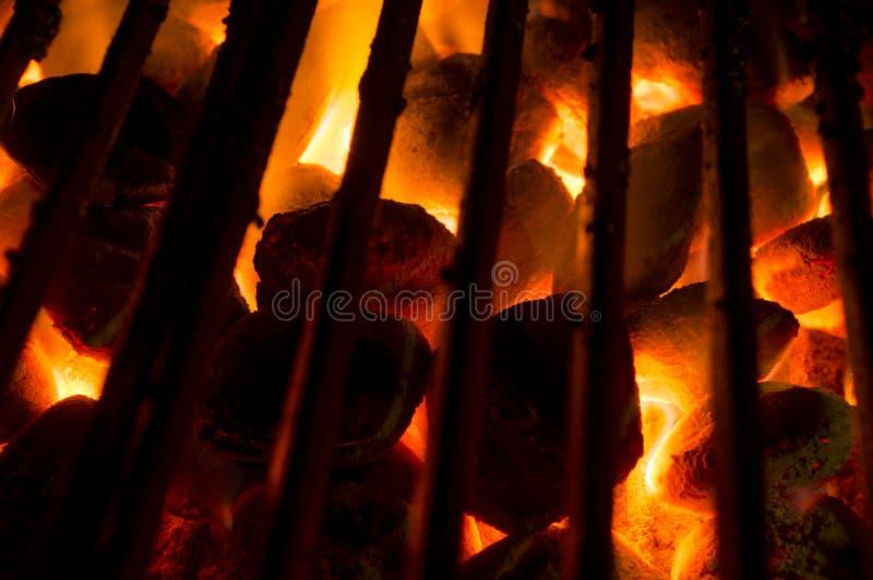 Горячие угли стоковые фотографии rf