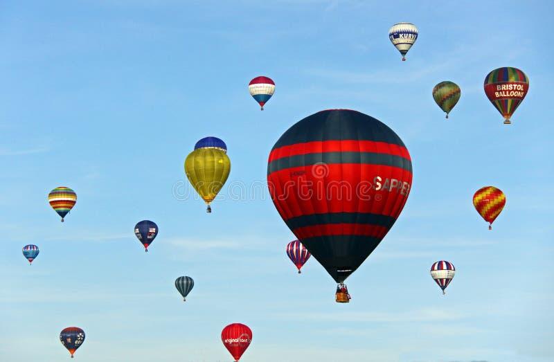 горячий воздушных шаров цветастый стоковая фотография