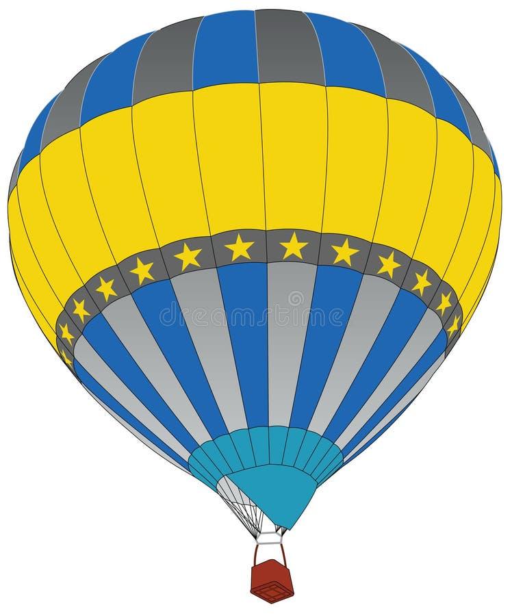 Горячий воздушный шар для концепции транспорта. иллюстрация вектора