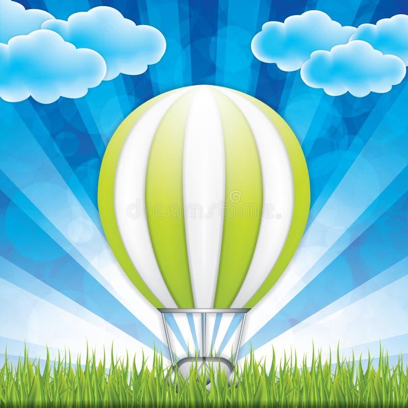 Горячий воздушный шар иллюстрация вектора