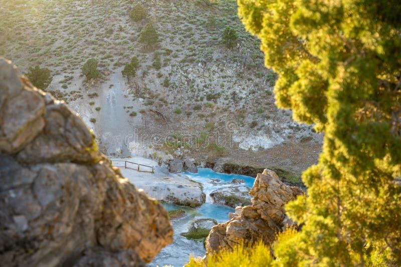 Горячий живописный природный пейзаж геологического объекта 'Горячий К стоковое фото rf