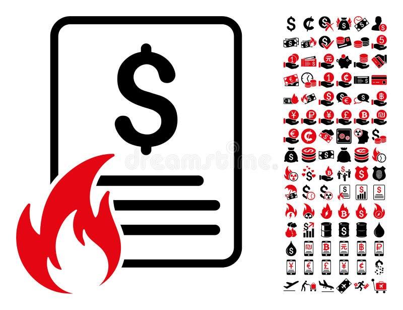 Горячий значок списка цен на товары с 90 пиктограммами бонуса бесплатная иллюстрация