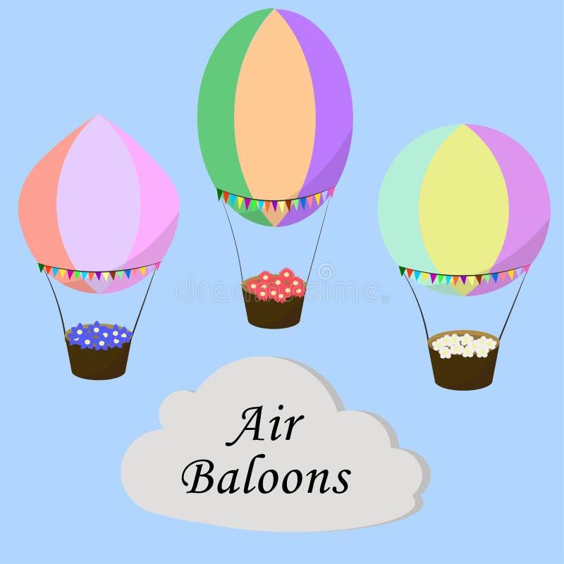 Горячий комплект воздушного шара иллюстрация штока