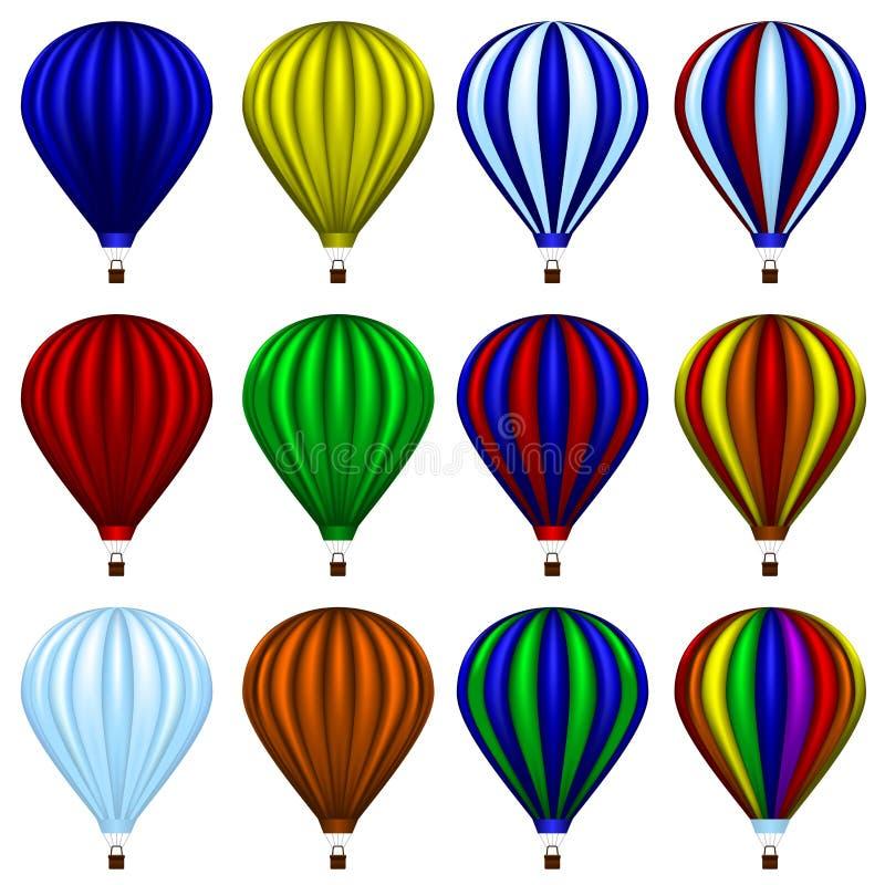Горячий комплект воздушного шара стоковое изображение
