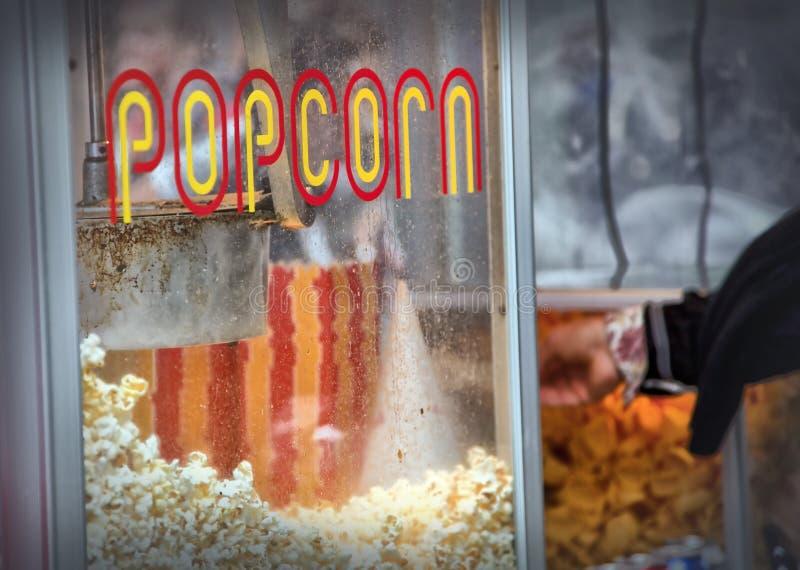горячий попкорн стоковая фотография rf