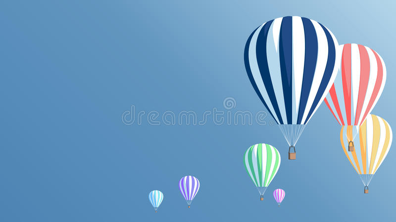 Горячий плакат воздушных шаров бесплатная иллюстрация