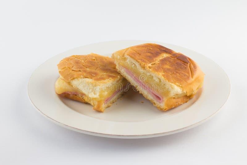 Горячий сандвич сыра Бразильянин Misto Quente стоковые фотографии rf