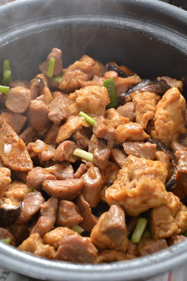 Горячий свинина тофу бака стоковые фото