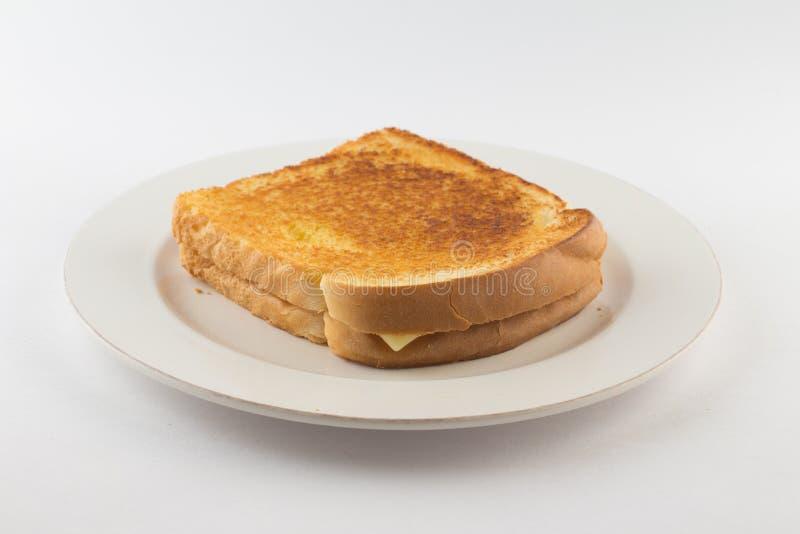 Горячий сыр с провозглашанным тост хлебом стоковое изображение rf