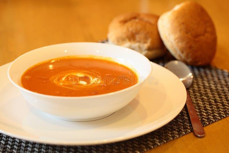 горячий томат супа стоковые фотографии rf