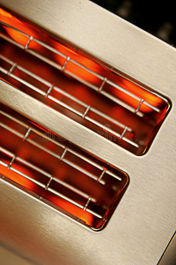 горячий тостер стоковое изображение