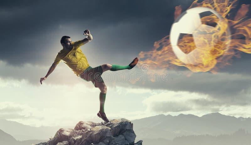 Горячий футболист стоковые изображения rf