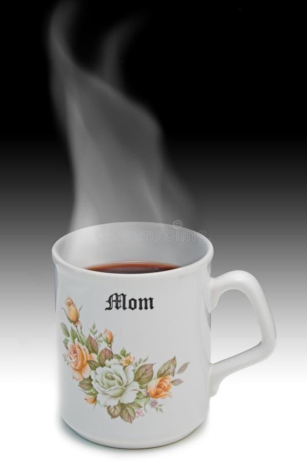горячий чай мамы стоковое изображение