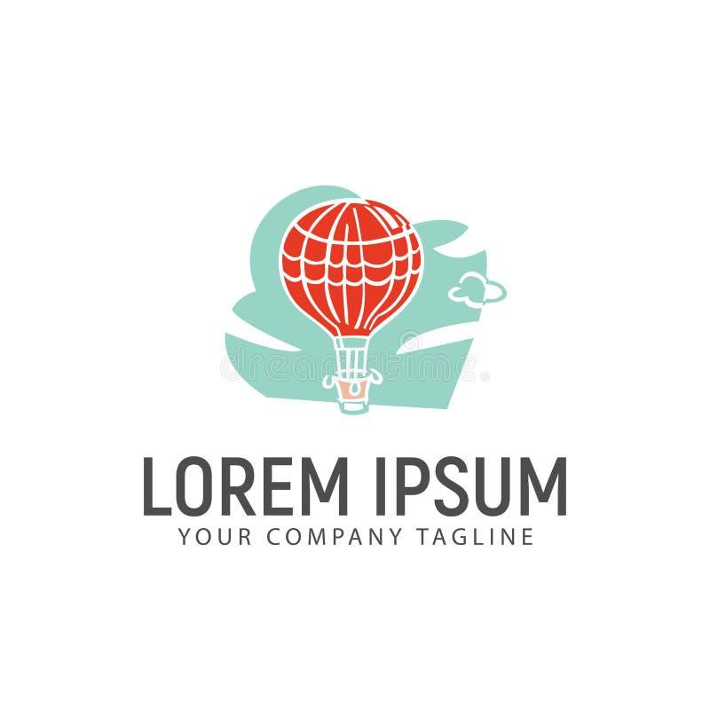 Горячий шаблон идеи проекта логотипа воздушного шара бесплатная иллюстрация