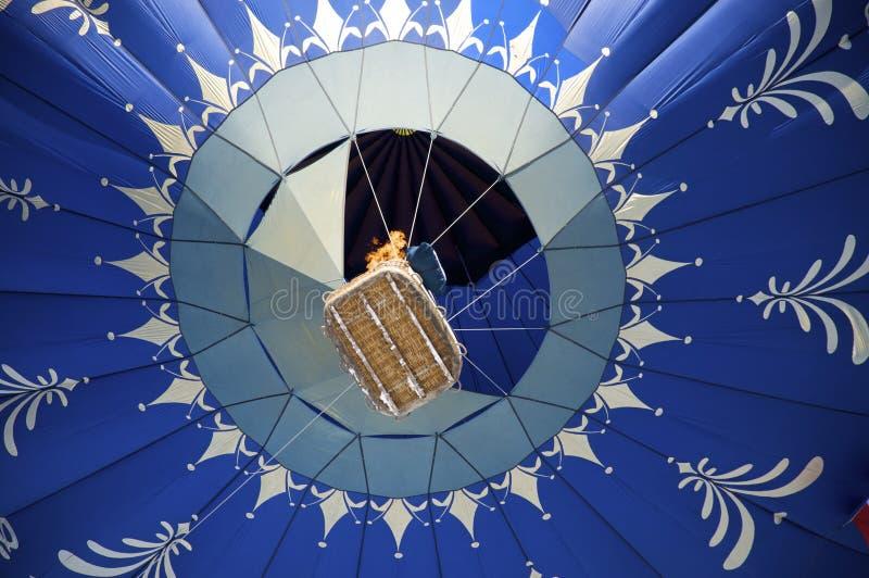 горячий ballon воздуха голубой стоковые изображения rf