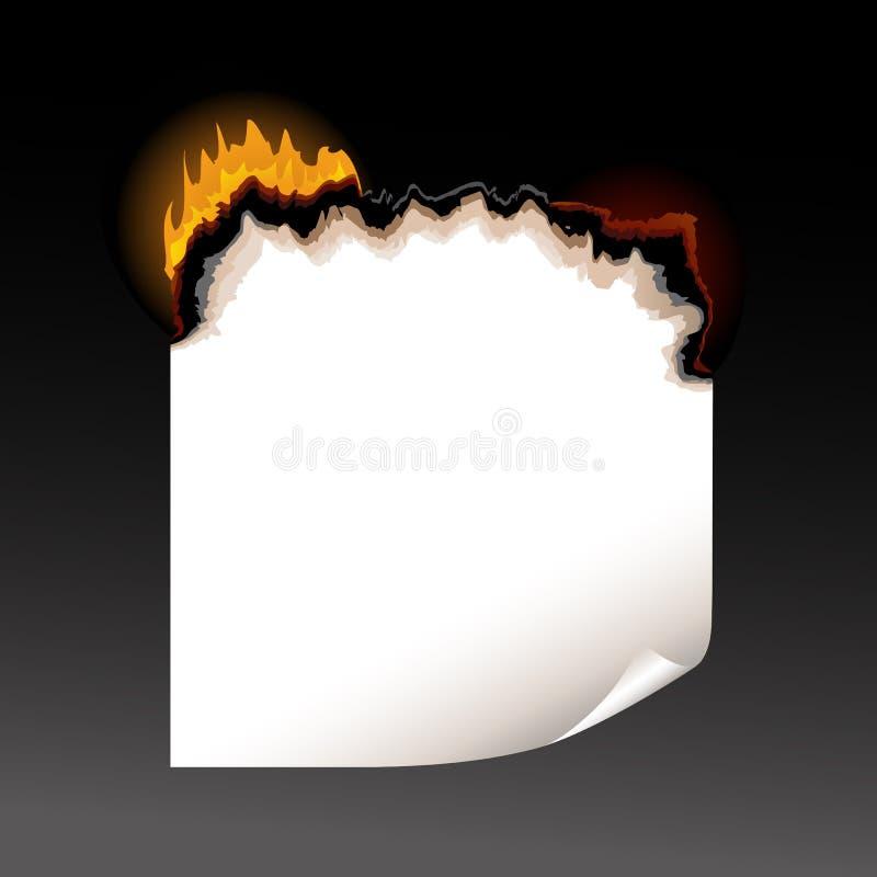горящая бумажная часть бесплатная иллюстрация