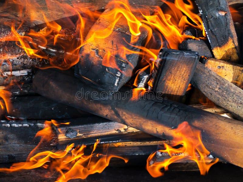 горящая древесина стоковые изображения
