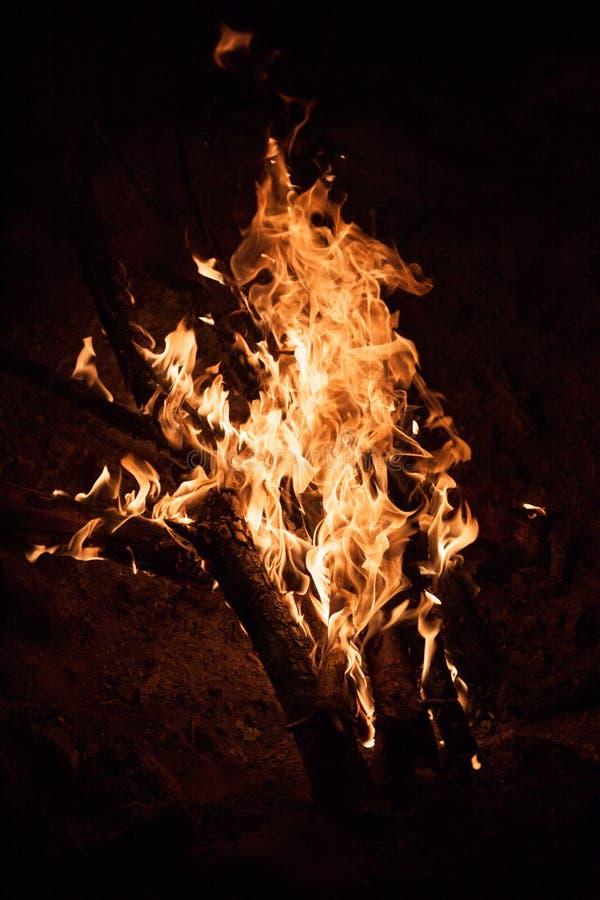 Горящая ноча костра Стоковое Изображение RF