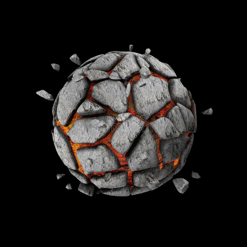 Горящая планета лавы иллюстрация штока
