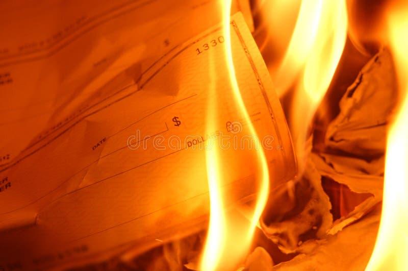 горящая проверка стоковая фотография rf