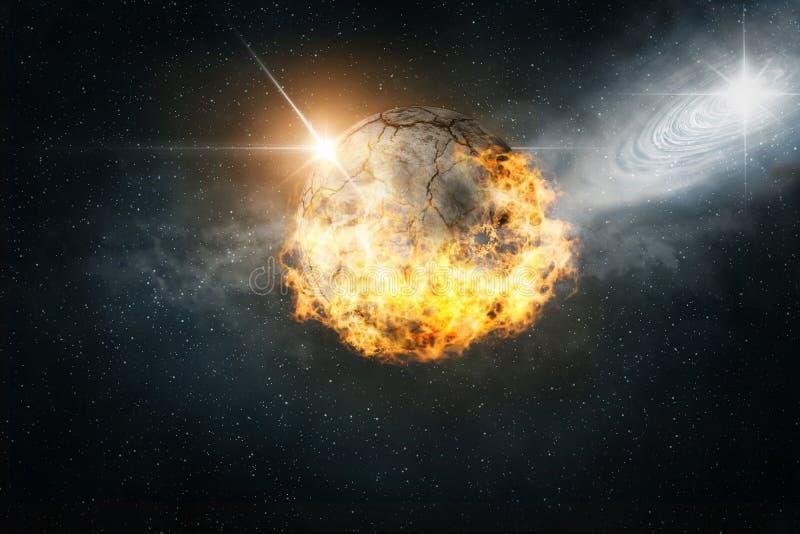 горящая планета стоковое изображение